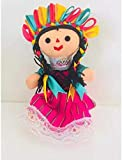 Muneca Tradicional Mexicana Artesanal de Trapo
