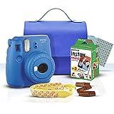 Instax Fujifilm Paquete Kit de inicio Cobalto + Estuche Hielo+ accesorios
