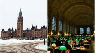Gran tour bajo techo en edificios históricos de Ottawa, Canadá