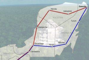 nueva ruta tren maya mapa