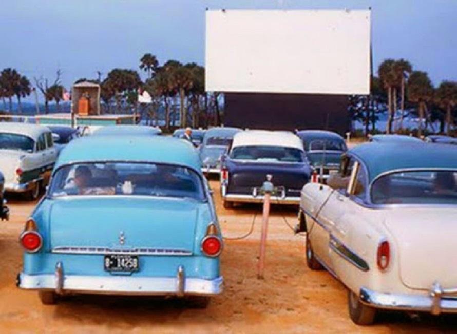 Foto antigua del Auto cinema Satélite