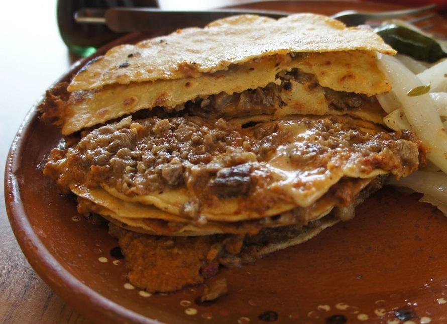 Empalmes comida típica de Nuevo León