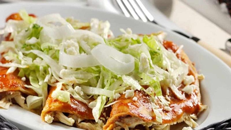 Gastronomía de Querétaro: Enchilada queretana