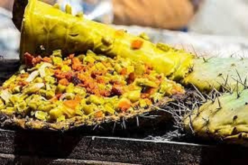Gastronomía de Querétaro: Nopal en Penca