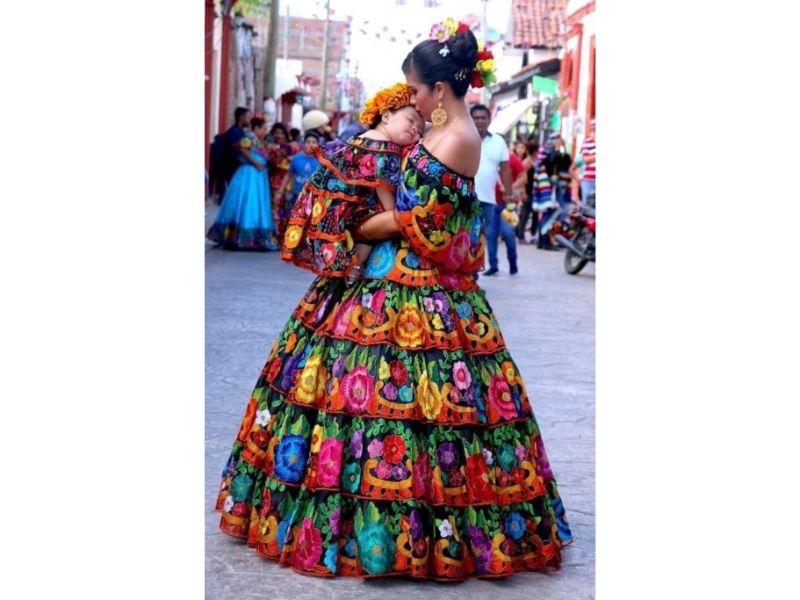 Trajes típicos de México: Traje de Chapaneca