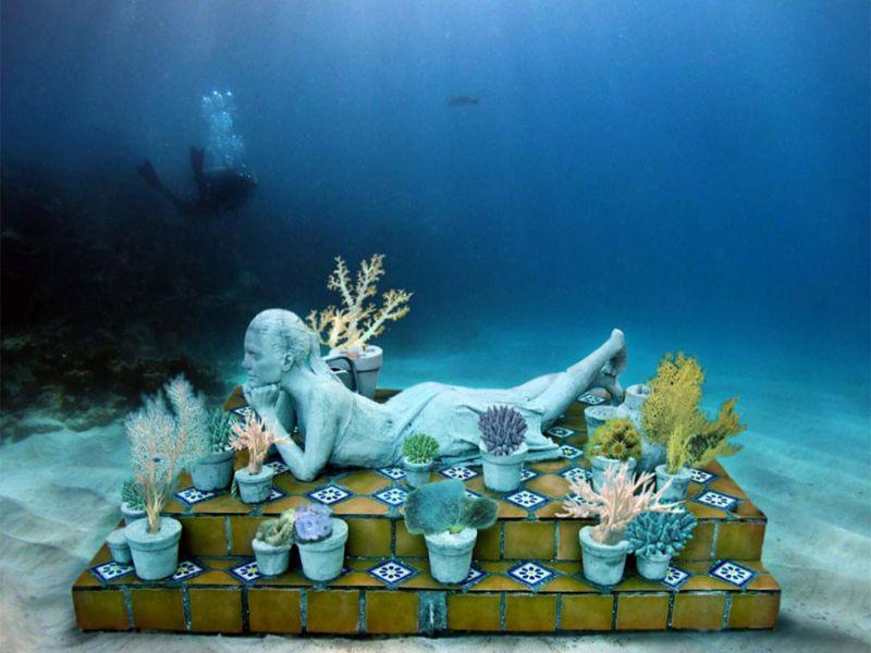Mejores lugares de Quintana Roo:  2. Museo Subacuático Cancún